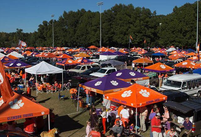 canopy popup tents clemson tailgate 2017