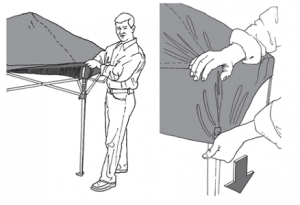how to setup a pop up canopy tent
