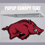 arkansas razorbacks popup canopy logo tent football ncaa tailgate
