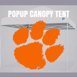 clemson tigers pop up canopy tent football tailgate