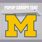 michigan wolverines popup canopy football tailgate tent