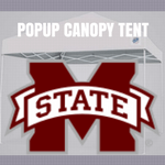 mississippi state bulldogs popup canopy tent ncaa logo football tailgate