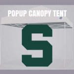 michigan state popup canopy football tailgate tent