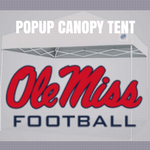 ole miss popup canopy tent ncaa logo for football tailgating