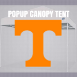 tennessee volunteers popup canopy ncaa logo tent for football tailgating
