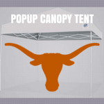 texas longhorns popup canopy tent football tailgate