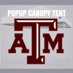 texas a&m aggies popup canopy tent ncaa logo for football tailgating