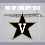 vanderbilt popup canopy tent ncaa logo for football tailgating