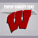 wisconsin badgers popup canopy tent football tailgating