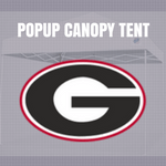 georgia bulldogs popup canopy tent ncaa logo for football tailgating