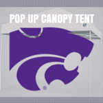 kansas state wildcats pop up tailgate canopy tent with ncaa logo for sale