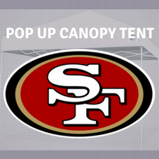 san francisco 49ers pop up tailgate canopy tent