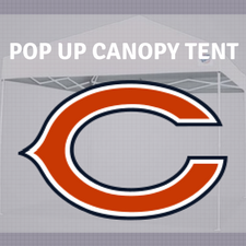 chicago bears pop up canopy tailgate tent nfl logo