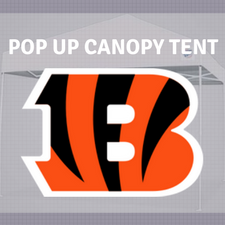 bengals pop up canopy tent for tailgating nfl logo