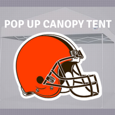 browns pop up canopy tailgate tent nfl logo