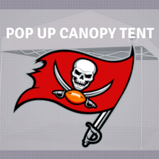 tampa bay buccs pop up canopy tailgate tent