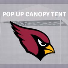 arizona cardinals pop up tailgate canopy tent