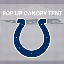 colts nfl logo pop up canopy tailgate tent