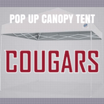 washington state cougars pop up tailgate canopy tent with team logos for sale