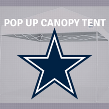 dallas cowboys pop up canopy tailgate tent