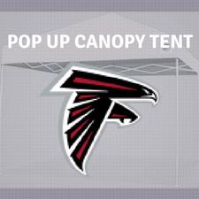 atlanta falcolns pop up canopy tailgate tent nfl logo
