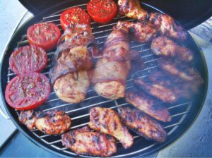 tailgate canopy tents grilling food