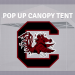 south carolina gamecocks pop up tailgate canopy tent