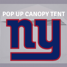 new york giants pop up canopy tailgate tent nfl logo