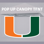 tailgate canopy tents miami huricanes for sale
