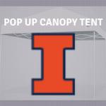 illinois fighting illini tailgate canopy pop up tent ncaa logo