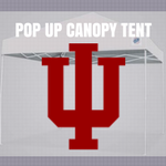 indiana hoosiers pop up tailgate canopy tent with ncaa logo for sale