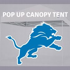 detroit lions popup canopy tailgate tent nfl logo