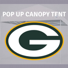 green bay packers pop up canopy tent tailgate nfl logo