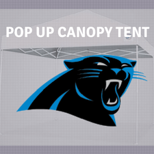 carolina panthers pop up canopy tailgate tent nfl logo