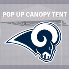 los angeles rams pop up tailgate canopy tent
