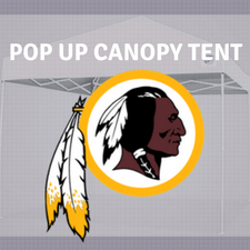 washington redskins pop up canopy tailgate tent nfl logo