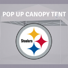 pittsburgh steelers pop up canopy tent for football tailgating nfl logo camping