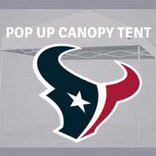 texans pop up canopy tailgate nfl logo tent