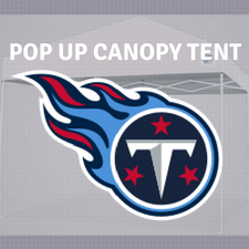 titans nfl logo pop up canopy tent for tailgating