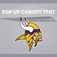 minnesota vikings pop up canopy tent tailgate nfl logo