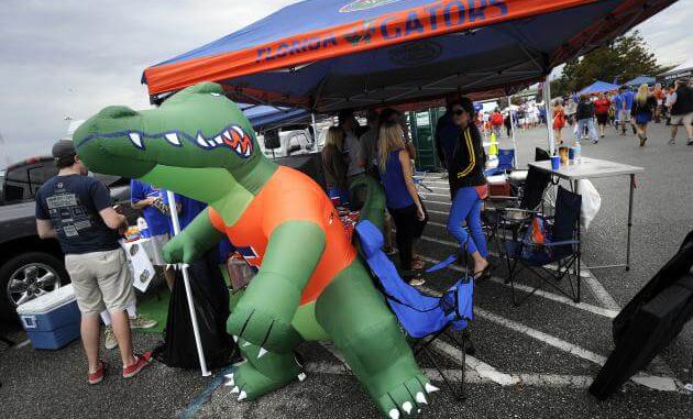 use your tailgate canopy tent at the tailgate on gameday.