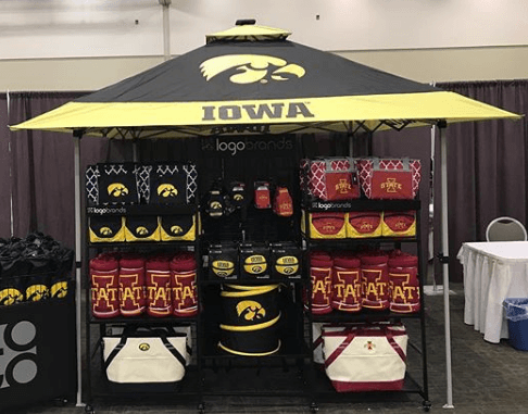 tailgate canopy tents can be used at tradeshows.