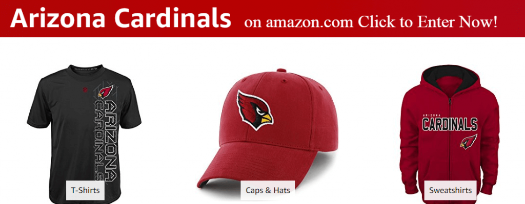 tailgate canopy tents have direct access to the arizona cardinals fan page on amazon. just click the image to browse thousands of items for sale.