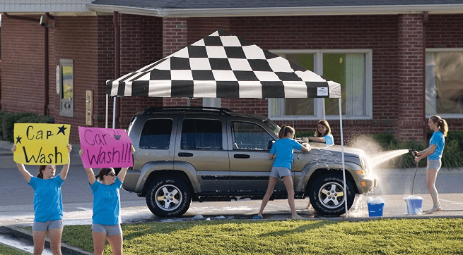 tailgate canopy tents can be used for fundraisers.