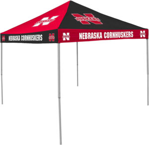nebraska cornhuskers checkerboard style canopy tent for sale. just click image to buy on amazon.com. thank you.